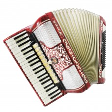 Horch Deluxe 120 Bass, Perfect German Full Size Piano Accordion, New Straps 1350, Very Beautiful and Powerful Sound!