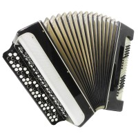 Converter Button Accordion: Free Bass Stradella, Folk Russian Bayan Vostok, 1343, Powerful sound.