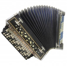 Handmade Vintage Russian Bayan, Georgeous Folk Button Accordion Super Sound 1335, Rare and Very Nice musical instrument