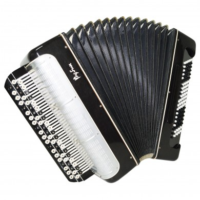 Almost Unused! Bayan Rubin, Converter Free Bass Stradella, Button Accordion 1384, incl. New Straps and Case, Rich and Powerful sound.