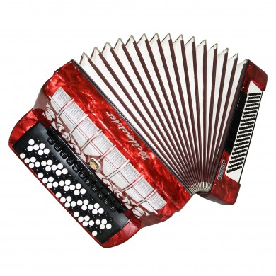 5 Row Weltmeister Grandina, made in Germany Button Accordion Bayan 120 Bass 1479, New Straps, Excellent and High Quality Sound!