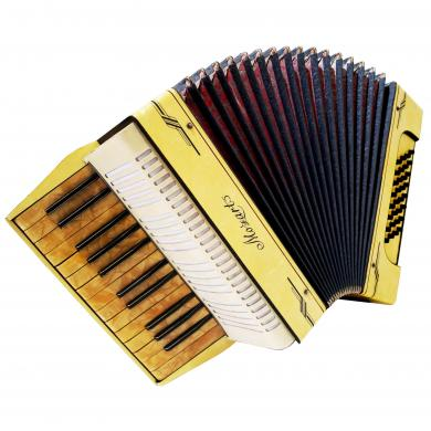 Mozart German Piano Accordion, Light Weight for Beginner Children, 32 Bass, 1170, Vintage musical instrument, Wonderful sound.