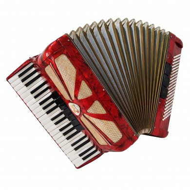 Lignatone Aida 120 Bass, made in Czechoslovakia Piano Accordion, New Straps 1422, Rich and Amazing sound.