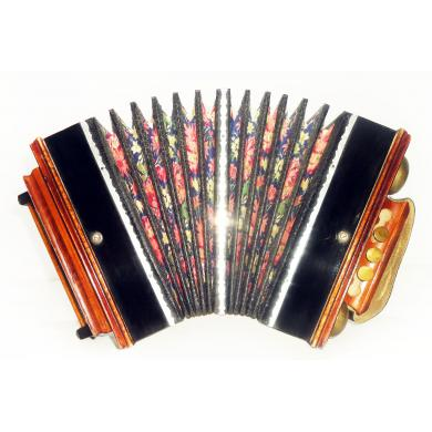Antique Diatonic Saratovskaya Harmonica, Handmade Garmon, Button Accordion 1290, Squeeze Box, Super sound!