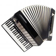 Almost Unused! Weltmeister Stella, 120 Bass, German Piano Accordion, Case, 1241, New Straps, Full Size Keyboard Accordian, Bright and Powerful Sound.
