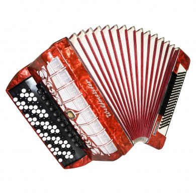 5 Row Weltmeister Grandina, made in Germany Button Accordion Bayan 120 Bass 1478, New Straps, Very Beautiful and Powerful sound.