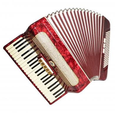 German Piano Accordion Cyclop, 120 Bass New Straps Klingenthal Weltmeister 1301, Excellent Sound, Full Size Accordian.
