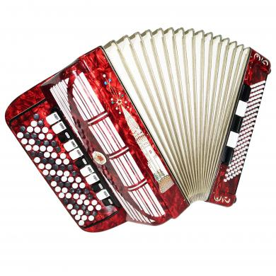 5 Row Weltmeister German Concert Button Accordion Bayan 120 Bass New Straps 1300, Bright Quality sound! Special Design!