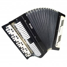 3 Row Chromatic Button Accordion, made in Russia Tula Bayan Etude, 100 Bass 1442, Excellent and Very Beautiful Sound!