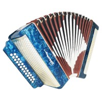Russian Garmon Vesna, Accordion Harmonica, 25x25, 2 registers, New Straps 1459, Squeezebox, Very Nice and Bright sound!
