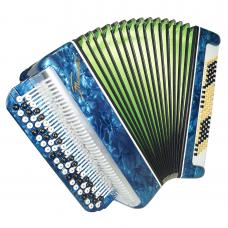 Folk Russian Chromatic Button Accordion Tonica, Bayan, 100 Bass, New Straps 1209, Classic Musical Instrument, Excellent sound!