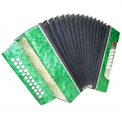 Folk Garmon Marichka, Button Accordion Harmonica, 23x12, made in Ukraine, 1402, Squeezebox, Very Nice and Bright sound!
