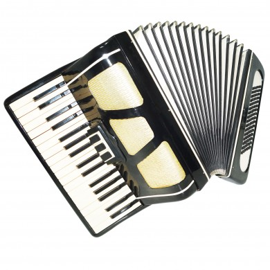 Lightweight Folk Piano Accordion Yunost, 96 Bass made in Russia, New Straps 1398, Wonderful sound!