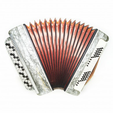 Beautiful Chromatic Button Accordion Tonica, Russian Bayan 100 Bass, Case, 1429, Classic Musical Instrument, Excellent sound!