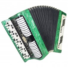Bayan Etude, Russian Chromatic Button Accordion, Tula 3 Row, 100 Bass, Case 1351, Very Beautiful Sound!