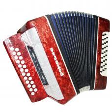 Close to New! Russian Garmon Romashka, Button Accordion Harmonica, 23x25, 1267, Squeezebox, Very Nice and Bright sound!