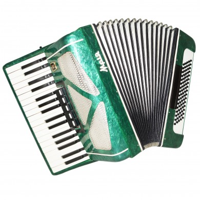 Almost Unused! Ukrainian Piano Accordion Mriya, 80 Bass, Keyboard Accordian 1346, Bright Quality Sound!