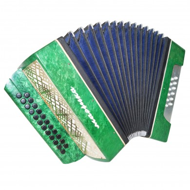 Folk Garmon Marichka, Button Accordion Harmonica, 23x12, made in Ukraine, 1399, Squeezebox, Very Beautiful sound!