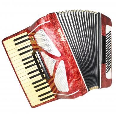 Almost Unused! Ukrainian Piano Accordion Mriya, Amazing Sound, 80 Bass, 1320, Original Folk Musical Instrument.