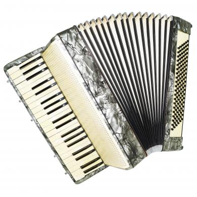 Hohner Verdi III B, Vintage German Piano Accordion, 120 Bass, Super Sound! 1275