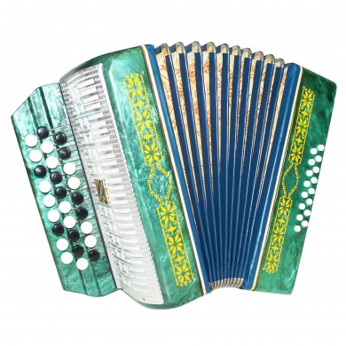 Lightweight Russian Button Accordion Malysh, Bayan Beginner Children Kids 1413, Very Beautiful sound.