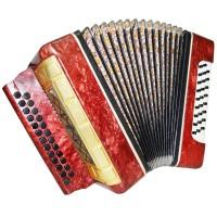 Folk Garmon Marichka, Button Accordion Harmonica, 25x25, made in Ukraine, 1412, Squeezebox, Very Beautiful sound!
