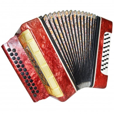 Garmon Marichka, Button Accordion Harmonica, 25x25, made in USSR Squeezebox 1412, Very Beautiful sound!