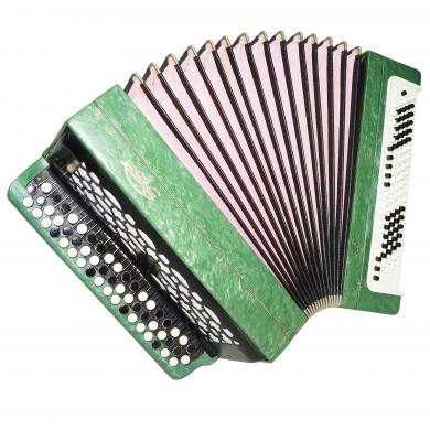 Bayan Etude 205M2, Excellent Russian Button Accordion Tula, 3 Rows 100 Bass 1239, Bright and Quality sound!