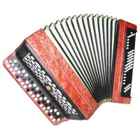 Bayan Etude 205M, Russian Chromatic Button Accordion, Tula, 3 Rows 100 Bass 1348, Bright and Quality sound!