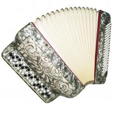 Horch, Luxurious Chromatic Button Accordion, Bayan 100 Bass made in Germany 1257, Button Box Accordian, Rich and Powerful sound.