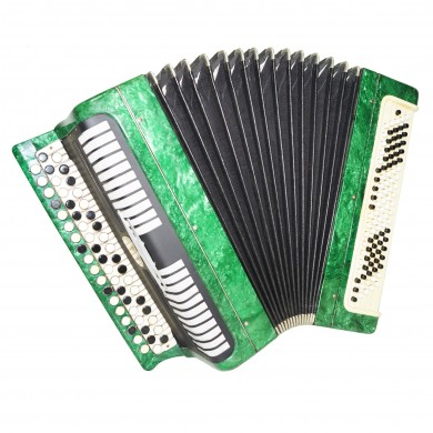 Bayan Etude, Russian Chromatic Button Accordion, Tula 3 Row, 100 Bass, Case 1401, Very Beautiful Sound!