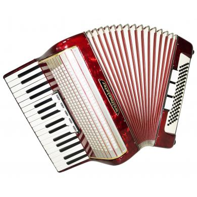 Weltmeister, Vintage German Piano Accordion, 80 Bass, incl. New Straps Case 1319, Bright and Quality sound!