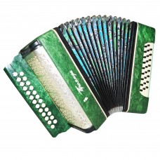 Folk Garmon Troyanda, Button Accordion Harmonica, 25x25, made in Ukraine, 1353, Squeezebox, Very Nice sound!