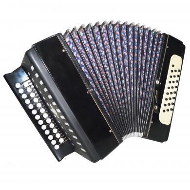 Russian Tulskaya Harmonica, Tula Garmon, Chromatic Button Accordion, 25x25, 1316, Squeezebox, Amazing sound!