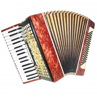 Perfect Folk Piano Accordion Akkord, made in Russia, 80 Bass Light Weight, 1295, Bright and Quality sound.