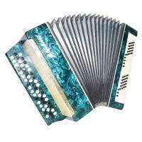 Folk Ukrainian Bayan Primin, 100 Bass Chromatic Button Accordion, incl Case 1410, B System, Very Nice Sound!