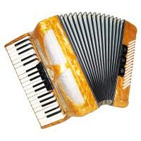 Almost Unused! Lignatone Melodia III 80 Bass, Piano Accordion, incl. Case, 1460, made in Czechoslovakia, Amazing sound.