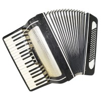 Piano Accordion Volna, 80 Bass, Folk Russian Keyboard Accordian, New Straps 1342, Amazing sound.
