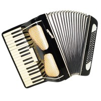 Folk Piano Accordion Octava, made in Russia, 80 Bass, Keyboard, incl. Case, 1339, Wonderful sound.