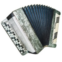 Folk Bayan Tula Tulskiy, 100 Bass Chromatic Button Accordion made in Russia 1341, Excellent sound.