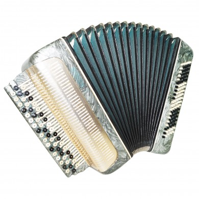 Folk Russian Button Accordion, 3 Row Bayan Belarus, made in USSR New Straps 1408, Wonderful sound!