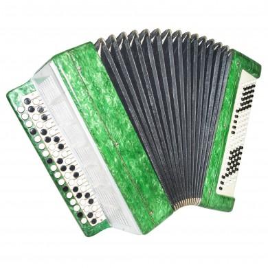 Bayan Kuban, Russian Chromatic Button Accordion, 100 Bass, New Straps, Case 1331, Button Box Accordian, Bright and Quality sound!