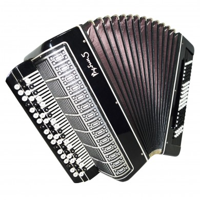Close to NEW! Converter Bayan Free Bass Stradella Rubin 5, Button Accordion 1391, 120 Bass, incl Case, Rich and Powerful sound. Great Chromatic Accordian.