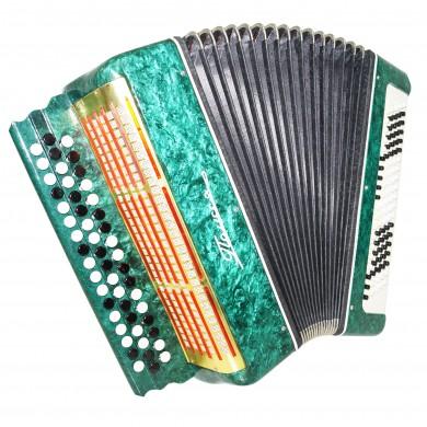 Close to New! Bayan Polissya, 100 Bass, Ukrainian Button Accordion, Case, 1376, B System, Very Beautiful Sound!