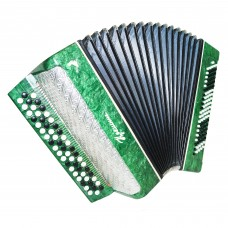 Close to New! Bayan Kreminne, Ukrainian Button Accordion, New Straps, Case, 1378, Bright and Rich sound.