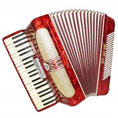 Rare Original German Piano Accordion Spranger Amoretta, 120 Bass New Straps 1369, Rich and Bright Sound!