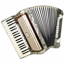 Weltmeister, Vintage Piano Accordion, 96 Bass, made in Germany, New Straps, 1371, Quality Keyboard Accordian, Rich and Powerful sound.