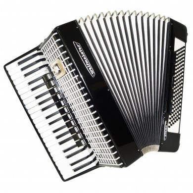 Weltmeister Stella, 120 Bass, made in Germany Accordion, New Straps, Case 1396, Excellent Sound. Full Size Accordian.