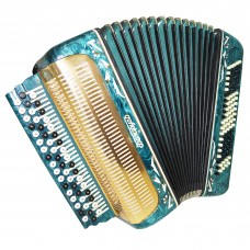 Perfect Russian Button Accordion, 3 Row Bayan Belarus, made in USSR, Case, 1388, Wonderful sound!