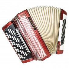 Close to New! 5 Row Barcarole Professional German Button Accordion, Bayan, 1390, New Straps, Full Size 120 Bass, Weltmeister, Quality and Powerfull sound!